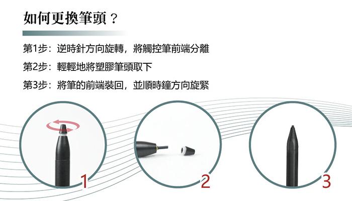 Green Pen 主動式觸控筆 筆頭更換說明